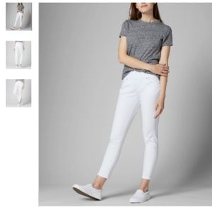 NWT JAG AMELIA High Rise Slim Ankle Jeans White 6